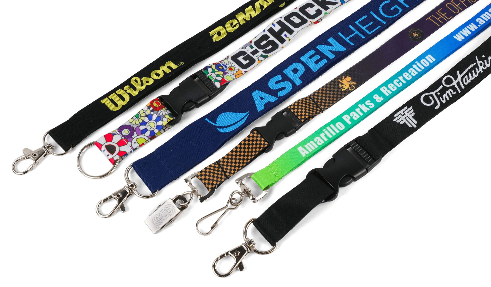 6 different lanyard styles